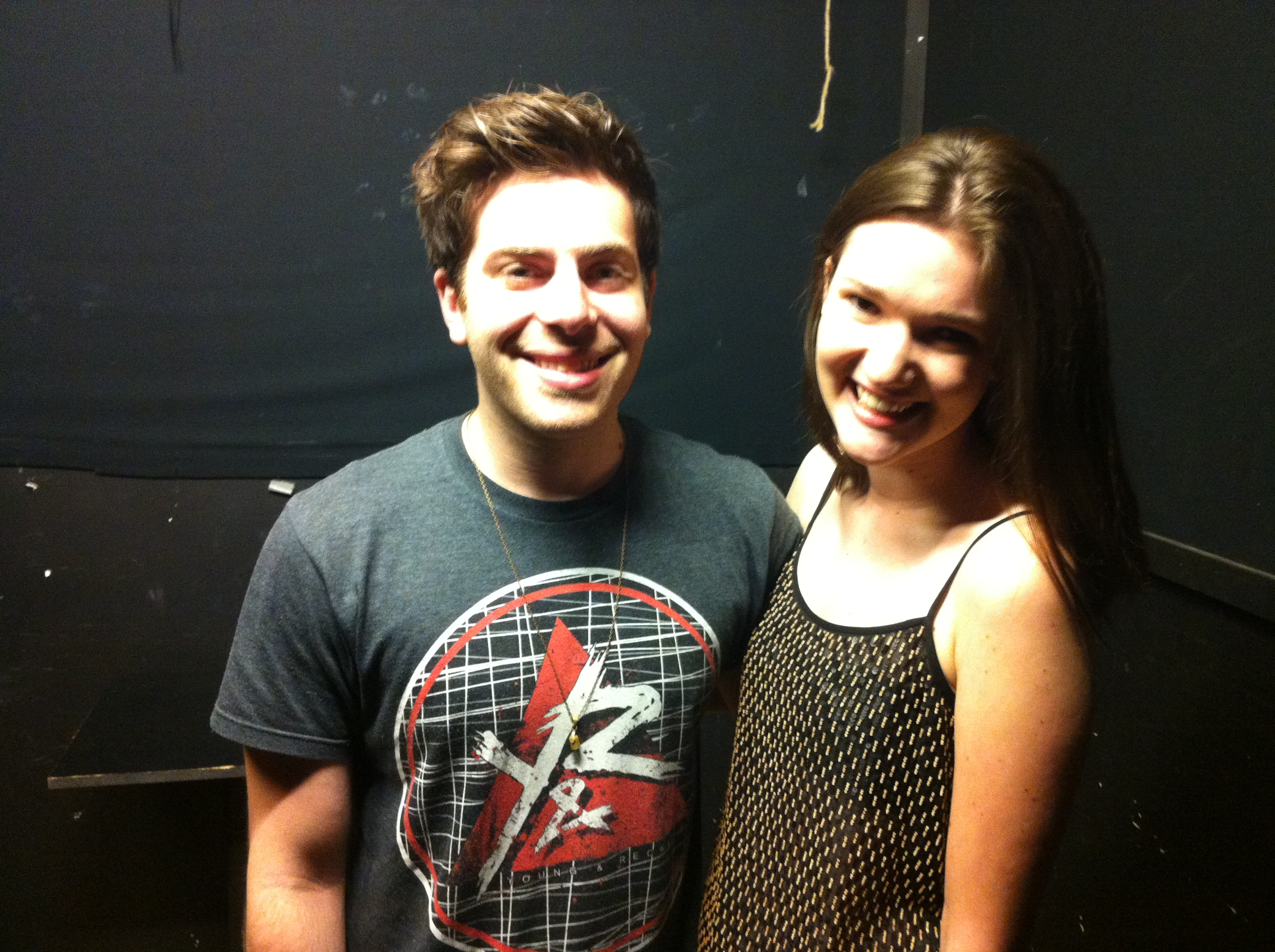 Hoodie allen lauren in lilly hoodie and me this picture is my new cover photo on facebook he was so sweet down to earth and friendly you could tell that he was exhausted and tired m4hsunfo